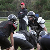 Marblehead High School football coach Jim Rudloff oversees practice on Thursday afternoon. David Le/Salem News