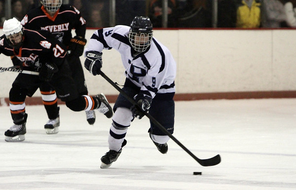 Peabody's Mike Chiappini races up ice with the puck during the 25th Annual Carlin Cup.David Le/Staff Photo