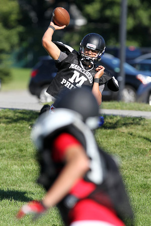 Marblehead senior quarterback Ian Maag looks to lead the Magicians in 2012. David Le/Staff Photo