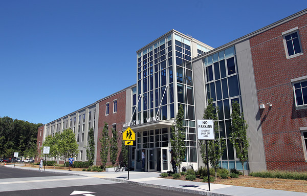 The new academic wing at Danvers High School. David Le/Staff Photo