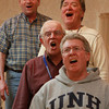 Northshoremen Barbershop Chorus members from left, Ray Deschamps, Francis Page, Robert Dion, and Steve O'Connell, rehearse on Wednesday evening. David Le/Staff Photo