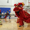 Students from Calvin Chin's Martial Arts Academy perform a traditional lion dance as part of the Hamilton-Wenham Public Library's Lunar New Year Celebration. David Le/Staff Photo