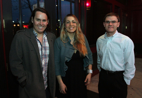 Andy Varela, left, Holly Maitland, and Fancis Vigeant, at Red Lulu for a Young Entrepreneurs seminar by the Enterprise Center David Le/Staff Photo