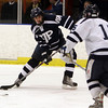 St. John's Prep forward Jack McCarthy takes a shot on net against Peabody on Wednesday. David Le/Salem News