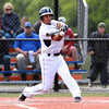 Danvers third baseman Nick Valles makes contact against Burlington on Wednesday afternoon. David Le/Staff Photo