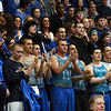 The Danvers High fans cheer the Falcons on during their D3 North Final game against Saugus. David Le/Staff Photo