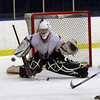 Salem goalie Grant Thompson makes a save against Gloucester on Wednesday afternoon. David Le/Salem News