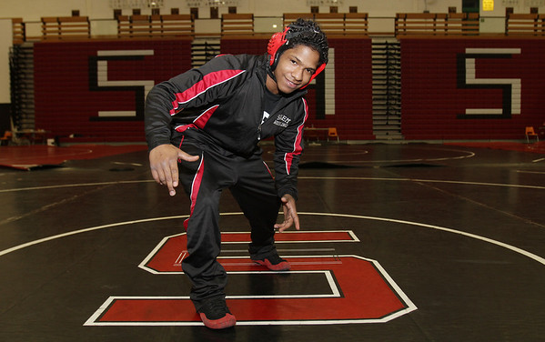 Salem High School senior wrestler Adelin Cueto will compete in the All-State meet, 138lb weight class, starting on Friday at Salem High School. David Le/Staff Photo