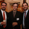 From left, Alex Schnip, Jim Gagnon, and Ben Bouchard, from RCG, at the 25th Annual Meeting of the Salem Partnership at The Hawthorne Hotel. David Le/Staff Photo