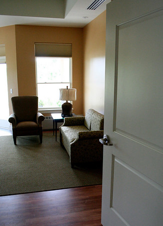 Beverly: One of the rooms in the new wing of the Kaplan Family Hospice House which is set to be opened on Tuesday. Photo by David Le/Salem News