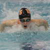 Beverly's Keely Higgins comes up for air during the 200 IM against Marblehead on Thursday night. David Le/Salem News