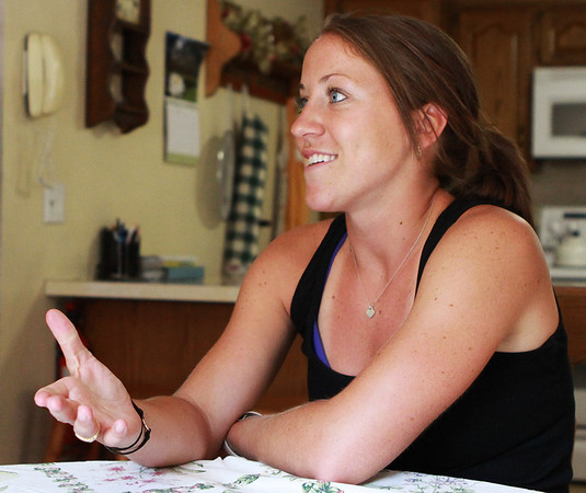 Danvers: Olympic Women's Hockey Silver Medalist Meghan Duggan talks and reminisces about her experiences from being a part of the US team, to the aftermath of the winter games, and to what lies ahead for her in the future, on Monday afternoon. Photo by David Le/Salem News