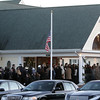 Peabody: Hundreds of people waited in line outside the Conway Cahill-Brodeur Funeral Home on Thursday afternoon to pay their respects to fallen Peabody firefighter Jim Rice. David Le/Salem News