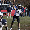 Swampscott High School quarterback Mike Walsh drops back to pass against Marblehead on Thanksgiving Day. David Le/Salem News