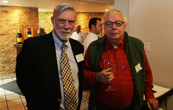 Stephen Clark, left, and Paul Redmond at the Salem Athenaeum Fundraiser held at the Adriatic Restaurant on Washington St. in Salem. David Le/Salem News