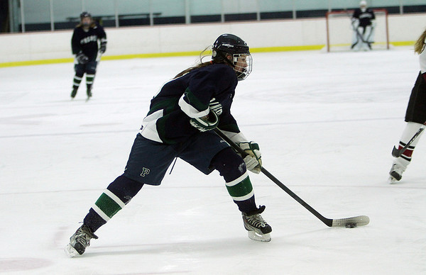 Pingree's Lily Sabatini, lines up a shot against Portsmouth Abbey on Friday night. David Le/Salem News