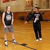 Ipswich head coach Mandy Zegarowski instructs Julia Davis, left, during practice. David Le/Salem News