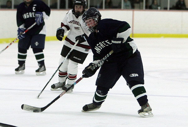 Pingree's Jillian Witwicki lines up a shot on net on Friday afternoon. David Le/Salem News