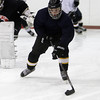 Peabody: Bishop Fenwick's Joe Shea carries the puck at practice last week. David Le/Salem News