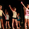 "Danvers High School junior Emily Murphy, right, playing Brooke in the Danvers High School Academy Theater's perfomance of ""Legally Blonde, The Musical,"" leads a dance number during rehearsal on Saturday afternoon. There will be Performances Thursday, Friday, and Saturday evenings (May 31st-June 2nd) at 7:30 pm, and a Saturday afternoon (June 2nd) matinee at 2:30 pm. David Le/Staff Photo"