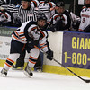 Salem State forward Andrew Cetola lines up a shot against Plymouth State on Thursday night. David Le/Salem News