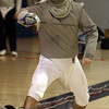 St. John's Prep Dan Garey, practices saber techniques at practice on Thursday afternoon. David Le/Salem News
