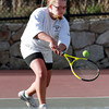 Marblehead 2nd Singles player Annie Ryan returns a serve against Masco on Wednesday afternoon. David Le/Staff Photo