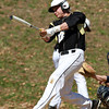 Bishop Fenwick's Gianni Esposito lines an RBI base hit against Peabody. David Le/Staff Photo