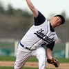 Hamilton-Wenham starter Ryan Foringer fires a pitch against Masco on Tuesday afternoon. David Le/Staff Photo