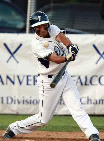 Danvers third baseman Nick Valles keeps his eye on the ball against Bishop Fenwick. David Le/Staff Photo