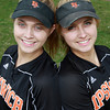 Ipswich senior twin sisters Rachel and Katie Glaubitz, are two of the Tigers softball captains for the 2012 season, and are also battery mates. David Le/Staff Photo