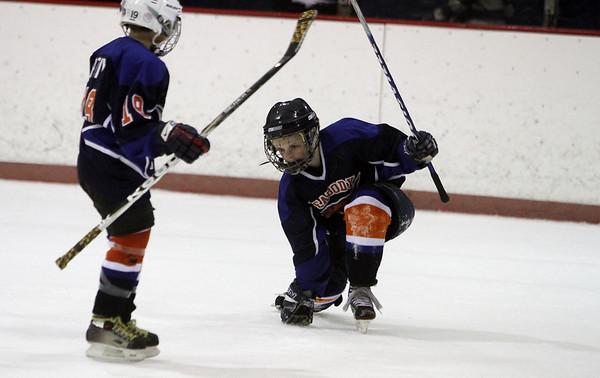 The Peabody Youth Hockey Squirt 'A' Mini-Game was played during the first intermission of the Peabody-Saugus Hockey game. David Le/Salem News