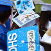 Danvers High School seniors sported colorful mortar boards during their Graduation ceremonies on Saturday morning. David Le/Staff Photo
