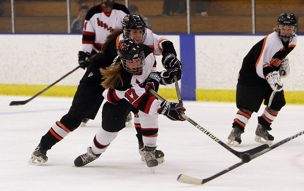 Marblehead's Brittany Smith (17) fires a shot on net against Beverly on Saturday. David Le/Salem News