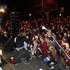 A very large crowd of people gathered on Washington St. to enjoy live music on Halloween night,. David Le/Staff Photo.
