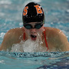 Beverly's Keely Higgins competes against Marblehead in the 200 Medley Relay. David Le/Salem News