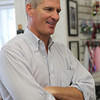 US Senator Scott Brown visited Browns of Beverly Bicycle on Friday afternoon. David Le/Staff Photo