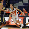 Salem State guard Bridget Dullea brings the ball upcourt against University of Southern Maine on Tuesday night. David Le/Salem News