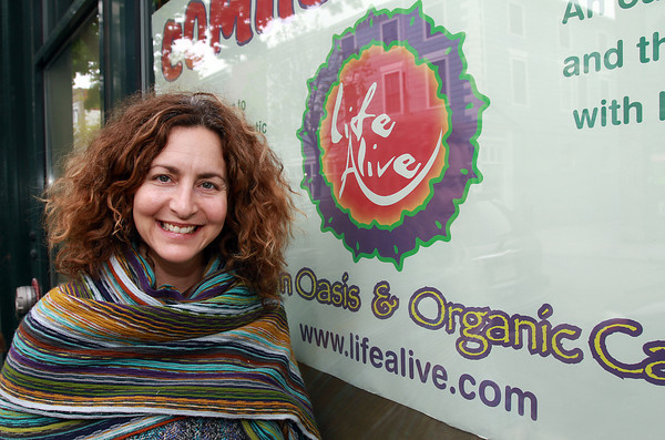 Heidi Feinstein, owner and founder of Life Alive, an Urban Oasis and Organic Cafe, is opening a location on Essex St. in Salem, where Coven used to be. Feinstein hopes to open the doors to her restaurant early next week. David Le/Staff Photo