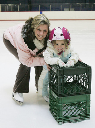 Michelle McMillan of Middleton and her daughter, Leah, 4, enjoying skating at the McVann O'Keefe ice rink in Peabody. Photo by Deborah Parker/January 5, 2009