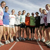 Beverly : The Beverly girls cross country team recently won their 100th straight meet over the last three track seasons. From left, senior Katie Vonzweck, junior Katie Moriarty, junior Brenna Bailey, junior Lauren Lacy, junior Monica Adler, junior Shannon Rogers, junior Corrine Dedeo, junior Millie Chapman, junior Amanda Blomqvist, junior Jenny Lanza, and senior Kelly O'Connor. <br /> Photo by Deborah Parker/Salem News Friday, October 17, 2008