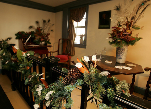 The Accounting Room in the House of Seven Gables was  decorated by Gina McCraine of McCraine and Co., with the help of Andrea Voigt of Gordon Florist and Greenhouses<br /> Photo by Deborah Parker/December 4, 2009