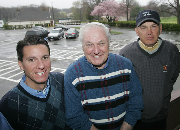From left Chris Carter, Burton Page and Steve Murphy, of Golf Facilities Management, the company that has taken over management of the Beverly Golf and Tennis Club. Photo by Deborah Parker/April 9, 2010<br /> , From left Chris Carter, Burton Page and Steve Murphy, of Golf Facilities Management, the company that has taken over management of the Beverly Golf and Tennis Club. Photo by Deborah Parker/April 9, 2010