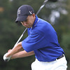 Danvers' Christian Russo tees off at the first first hole during yesterday's match against St. John's held at the Ferncroft Country Club. Photo by Deborah Parker/Octover 1, 2009