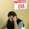 Beverly : Volunteer Mike Jendre of Beverly worked the phone Saturday while at the Republican campaign office on Cabot Street in Beverly. Photo by Deborah Parker/Salem News Saturday, October 18, 2008