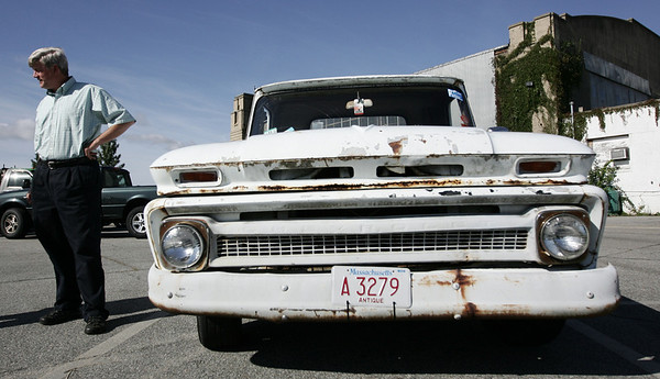 William Hanger, the manager of Winter Island, has a vintage pickup truck that people often notice around town. Photo by Deborah Parker/September 7, 2009