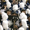 Danvers: The Danvers' marching band performs in the stands at Deering Stadium during Friday night's game against Peabody. <br /> Photo by Deborah Parker/Salem News Friday, October 03, 2008