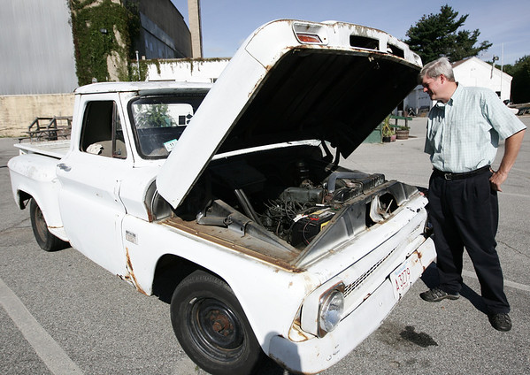 William Hanger, the manager of Winter Island, has a vintage pickup truck that people often notice around town. Photo by Deborah Parker/September 7, ,2009
