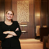 Courtney Fitzgibbons, funeral director of Stanetsky-Hymanson Memorial Chapels, stands in the chapel of the Salem funeral home. Fitzgibbons has recently been appointed to the board of directors of the Massachusetts Funeral Directors Association. Photo by Deborah Parker/August 25, 2009