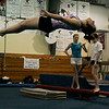 Middleton: Masconomet's Katie Ruccolo, a co-captian of the gymnastics team practices her floor routine while at YellowJackets Gymnastic Club in Middleton Friday. Photo by Deborah Parker/Salem News Friday, December 26, 2008.